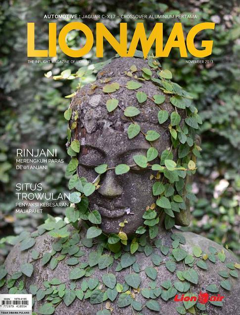 Majalah Pesawat Lion Air (LIONMAG) cover edisi Nop 2013