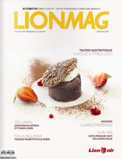 Majalah LIONMAG, cover edisi Jan 2014