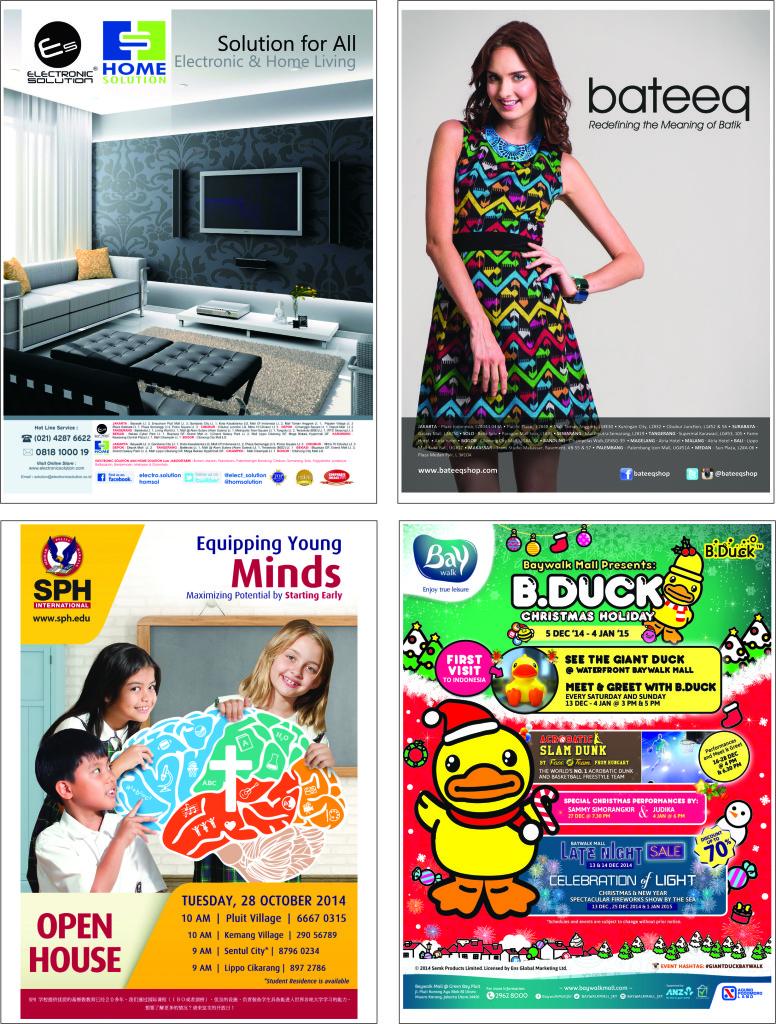 Contoh pemasangan iklan-iklan di koran & majalah