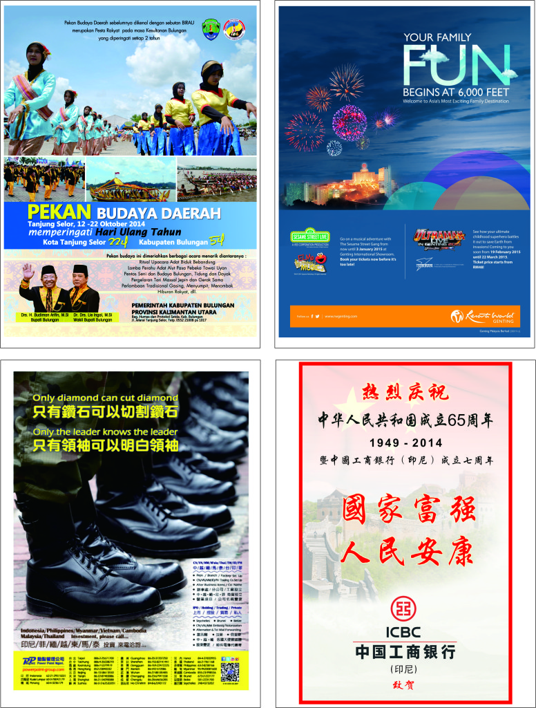 Contoh pemasangan iklan-iklan di majalah& koran