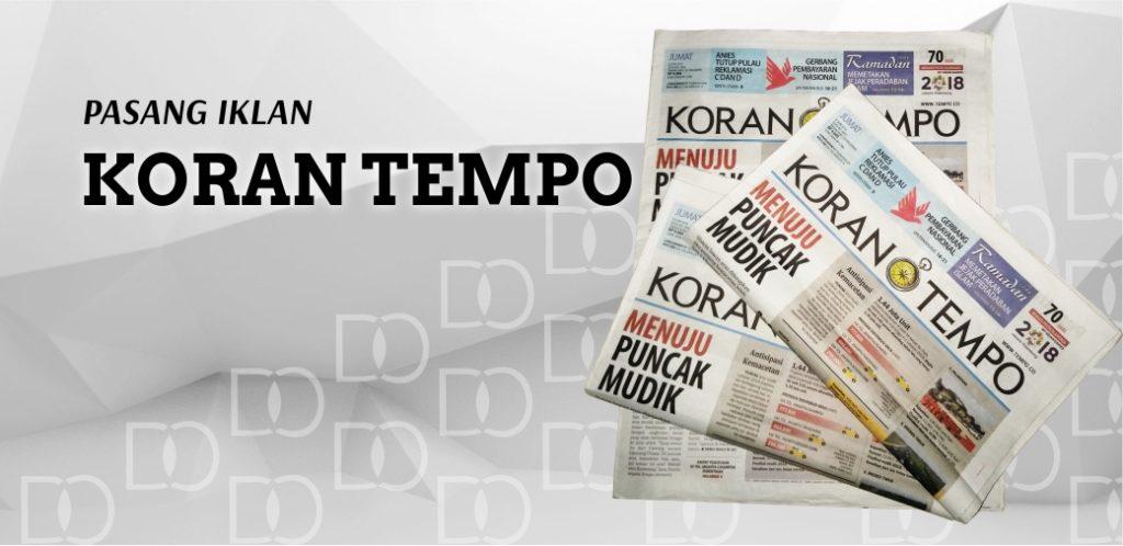 Pasang Iklan Koran Tempo