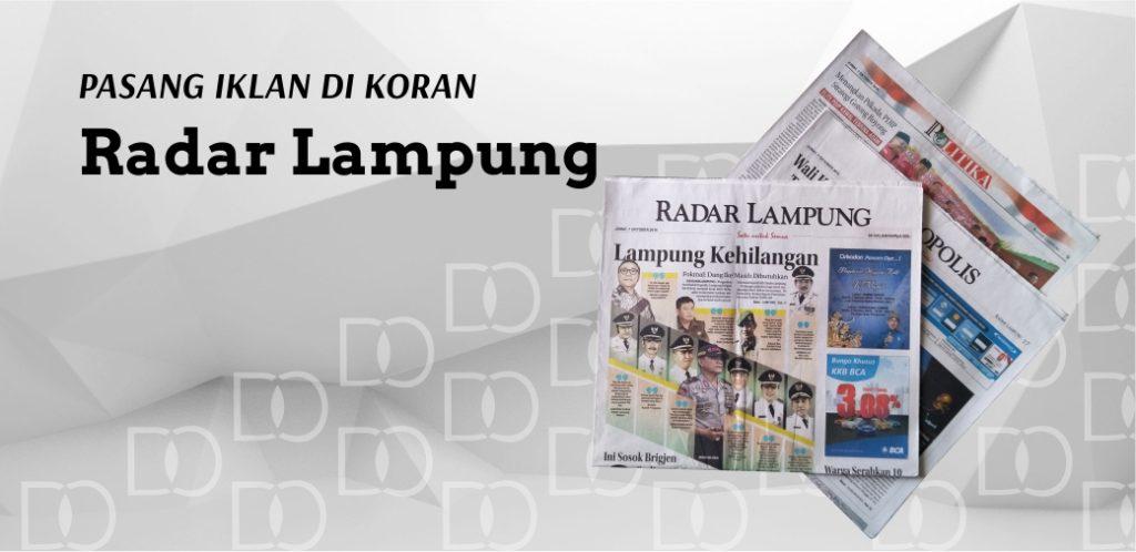 Pasang Iklan Koran Radar Lampung