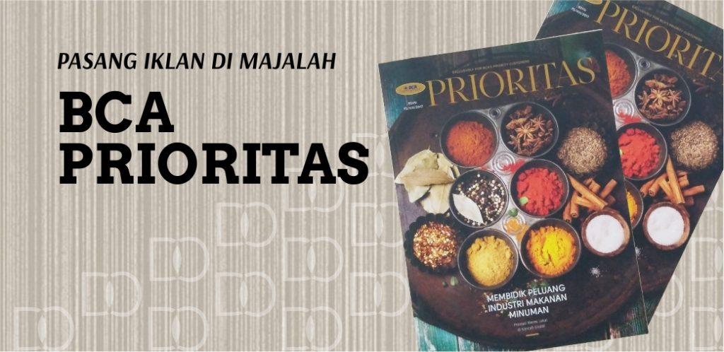 Pasang Iklan Majalah BCA Prioritas