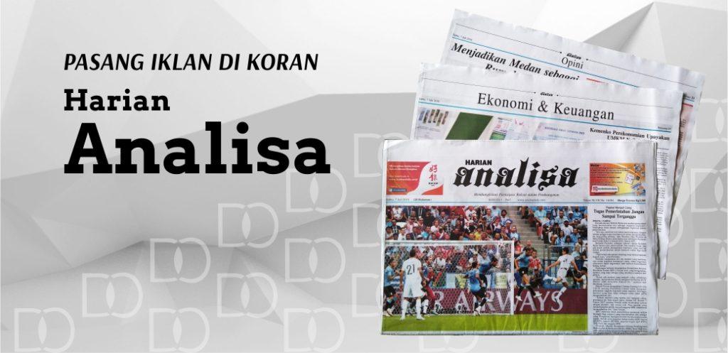 Pasang iklan di koran Analisa