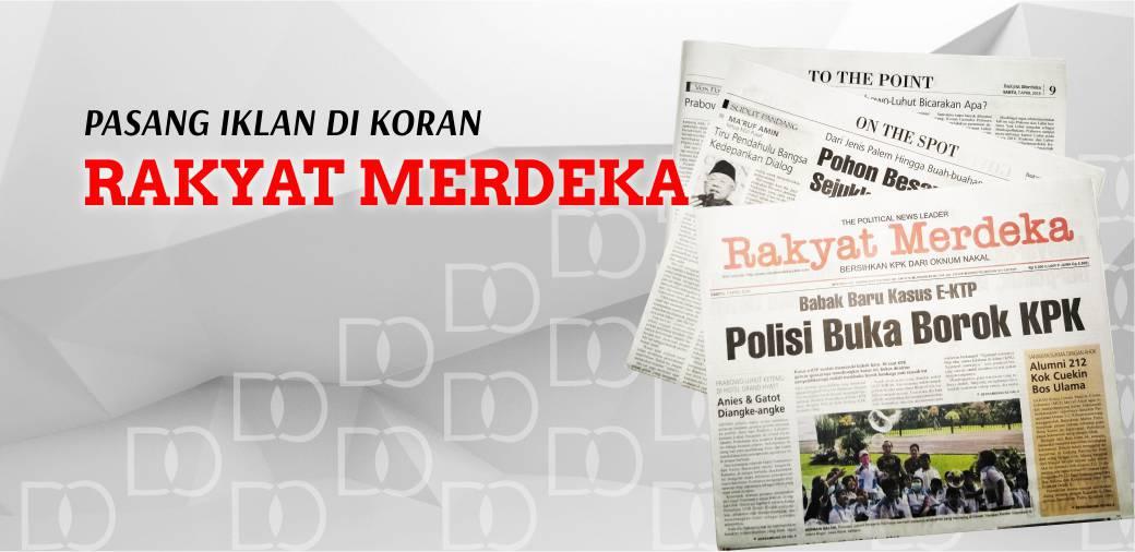 Pasang Iklan Koran Rakyat Merdeka