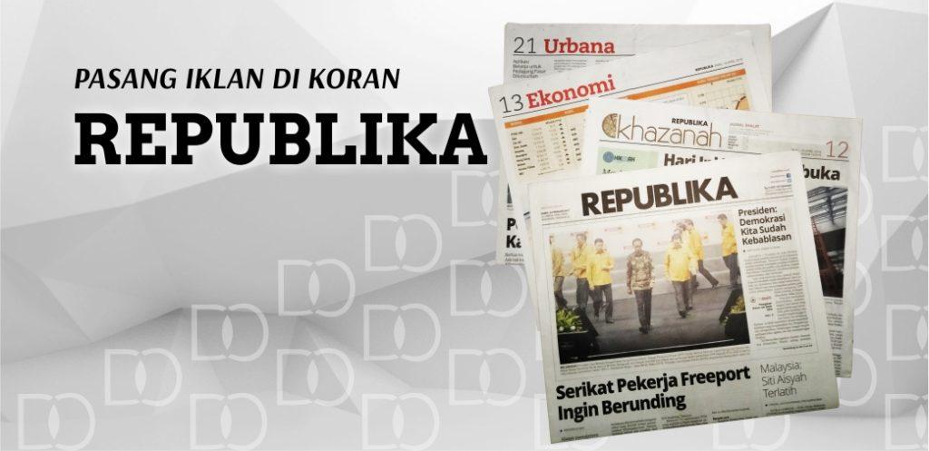 Pasang Iklan Koran Republika